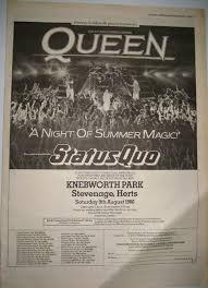 Resultado de imagem para queen knebworth 1986