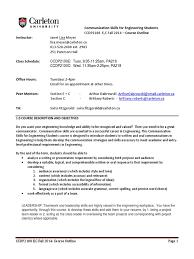 communication for engineering carleton uni course outline teachers