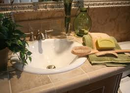 decoration bathroom sinks ideas: bathroom sinks design option features white acrylic bowl sink and