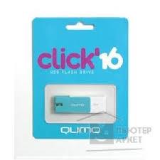 USB 2.0 <b>QUMO 16GB</b> Click [<b>QM16GUD</b>-<b>CLK</b>-<b>Azure</b>]