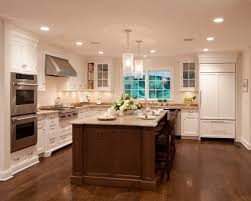 f admirable country kitchen remodeling design showing off antique white l shaped kitchen cabinets and good looking tubing glass pendant lights fixture antique white pendant lighting