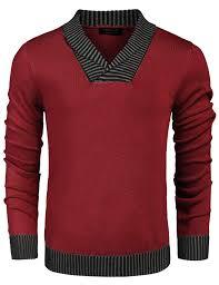 COOFANDY Men's Autumn Winter Ribbed <b>V</b>-<b>Neck Long Sleeve</b> ...