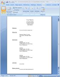 resume template word doc free  seangarrette coresume template word doc