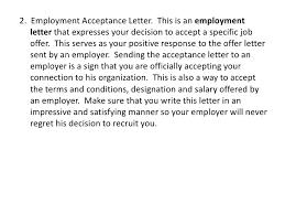 employment letter