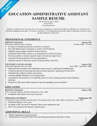 resume examples education  example director of education resume    resume examples   education administrative assistant resume