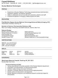 combination resume example  nuclear medicine technologistcombination resume example nuclear medicine technologist p