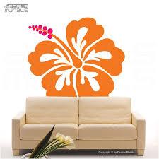 Wall decals <b>HAWAIIAN FLOWER</b> HIBISCUS Large vinyl decor | Etsy ...