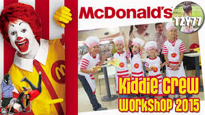 mcdonald s kiddie crew tzychilladey  mcdonald s kiddie crew 2015 tzychilladey 2015 kids travel buddy