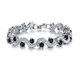 Buy Yellow Chimes Rich Designer A5 <b>Grade</b> Crystal Tennis Bracelet ...