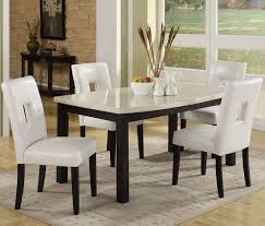small dining tables sets: granite top dining table cream finish
