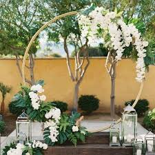 round Metal Iron <b>arch</b> wedding backdrop stand wedding <b>arch</b> ...