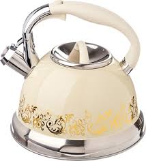 6589 VETTA <b>Чайник</b> стальной <b>3.0л</b> Золотая вязь, индукция ...