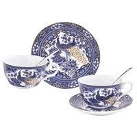 <b>Elan gallery Чайная пара</b> Павлин синий — Кружки, блюдца и ...
