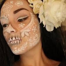 beautiful sugar skull makeup ethereal dia de los muertos make up idea diadelosmuertos sugar skull