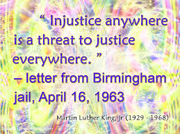 jesus christ mlk words on injustice