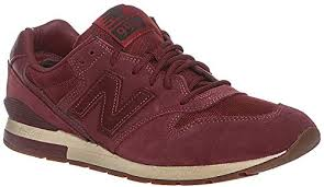 New Balance 996 NB Burgundy Suede Trainers ... - Amazon.com