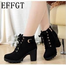 EFFGT <b>2017</b> New Autumn Winter Women Boots <b>High Quality Solid</b> ...