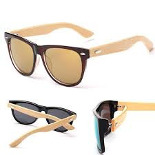 Mens Womens Wooden Retro Vintage Fashion <b>Summer Glasses</b> ...