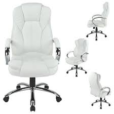 white high back pu leather executive office desk task computer chair wmetal base o18w bedroomsplendid leather desk chair furniture office sealy