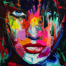 Popular Oil <b>Abstract</b> Portrait <b>Francoise</b> Nielly-Buy Cheap Oil <b>Abstract</b> ...