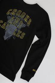 <b>Лонгслив CROOKS & CASTLES</b> Collegiate Medusa L/S Tee Black ...
