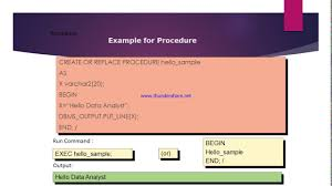 pl sql tutorial what is pl sql stored procedure give me an pl sql tutorial 5 what is pl sql stored procedure give me an example