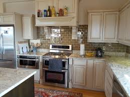 Painted Glazed Kitchen Cabinets Antique White Kitchen Cabinets Glazing Of Kitchen Cabinets To