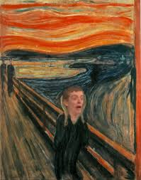 psbattle young man horrified expression in a dodgeball quick edit on the gogh edit my pun sucks my knowledge of artists sucks