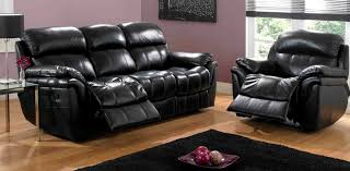 italian black leather reclining sofa chaise lounge indoor uk
