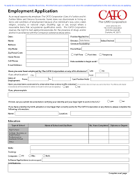 printable job application form ossaba cato employment application form printable online pictures c4mocarv