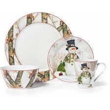 household dining table set christmas snowman knife: mossy oak break up infinity  piece dinnerware set holiday snowman walmartcom