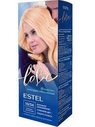 ESTEL LOVE <b>Стойкая крем</b>-краска 10/34 Солнечный блондин ...