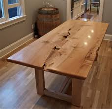 Dining Room Tables Portland Or Maple Live Edge Table Witness Tree Studios In Portland Or Inside