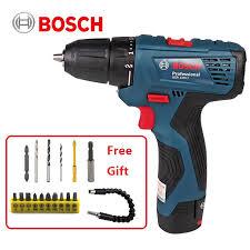 BOSCH <b>New Design</b> Power Drill <b>DIY</b> Lithium Ion Battery Cordless ...