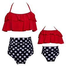<b>Funfeliz</b> Mother Daughter <b>Swimwear</b> Family Matching Outfit <b>Girls</b> ...