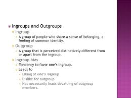 Image result for ingroup outgroup