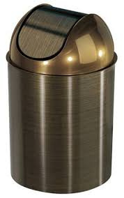 small plastic kitchen garbage cans umbra umbra mezzo  gallon swing top waste can bronze
