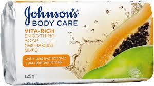 Johnsons Body Care Vita-Rich Смягчающее <b>мыло с экстрактом</b> ...