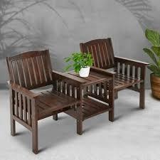Modern Wooden Outdoor Loveseat <b>2 Seater</b> Garden <b>Bench</b>/Chair in ...