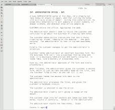 writing software screenshot