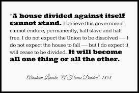 「Lincoln's House Divided Speech」の画像検索結果
