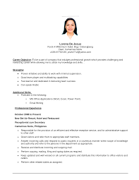 it professional objective examples cipanewsletter sample of resumes for jobs sample job template resume first