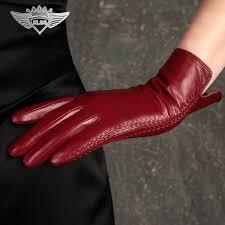 <b>KLSS Brand Genuine Leather</b> Women Gloves High Quality Goatskin ...