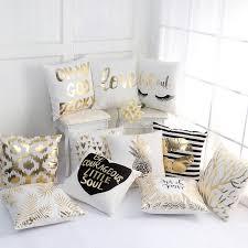 Gold Shining Eyelash Pineapple Nordic modern Printed <b>Polyester</b> ...