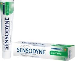 <b>Зубная паста Sensodyne</b> с <b>фтором</b>, для чувствительных зубов ...
