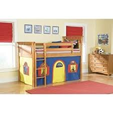 get quotations bolton furniture 9851y00lt1by bennington twin honey low loft bed with blue yellow bottom playhouse curtain cheap loft furniture