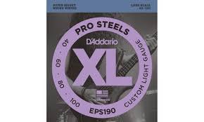 <b>Струны</b> для бас-<b>гитары D'Addario EPS190</b> Pro Steels Custom ...