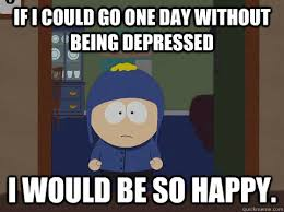 if i could go one day without being depressed I would be so happy ... via Relatably.com