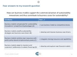 Four answers to my research question