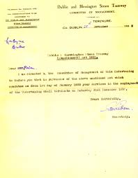 source south dublin libraries digital archive termination of wm dublin blessington steam tramway letter 28 nov 1932 postmistress ticket master jpg